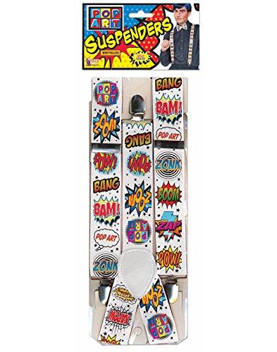 Forum Novelties 76939 Pop Art Braces Accessory Set, One (Pop Art Man Costume)