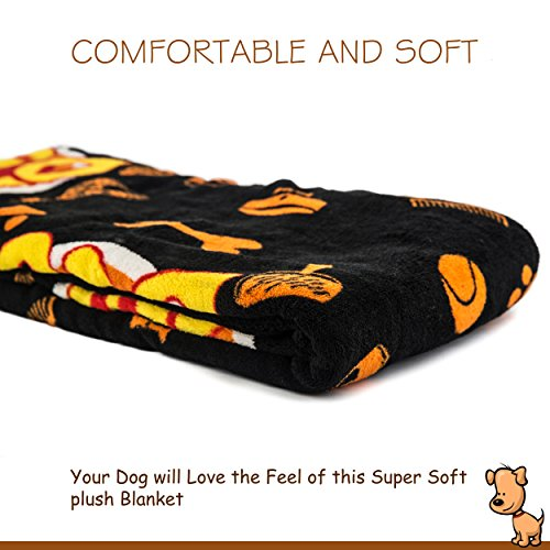 Deluxe Dog Blanket, 39x59'', Large, Super Soft Fleece, ''Top Dog'' Design, Machine-Washable, Perfect Gift for Dogs & Dog Lovers by Best of Breed Pet Care (Image #2)