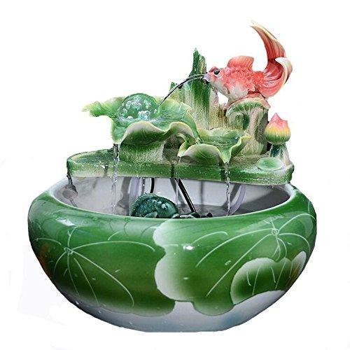 AN-LKYIQI Chinesische Wind Keramik Wasser Luftbefeuchter Wohnzimmer Ornamente Lucky Wasser Blick Fisch Tank aquarium