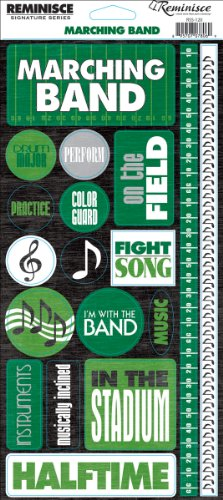 Reminisce Signature Series Sport Stickers, Marching Band Phrase