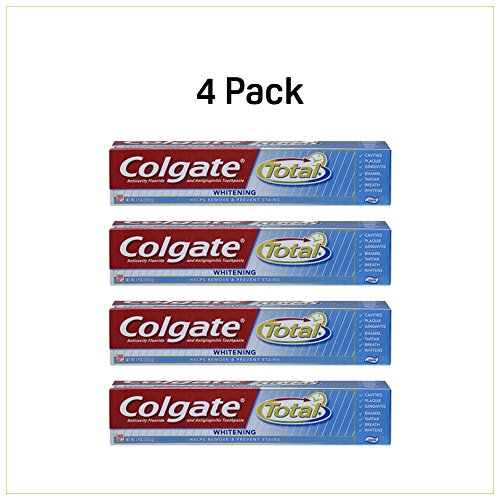 Colgate Total Whitening Anti-cavity Fluoride and Anti-gingivitis Toothpaste 1.9 Ounce Fights Cavities, Gingivitis, Plaque Bad Breath Tartar and Strengthen your Enamel