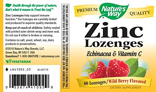 Nature's Way Zinc Lozenge, 60 Lozenges by Nature's Way (Image #5)