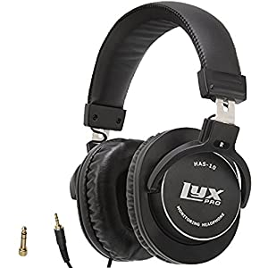 LyxPro HAS-10 Closed Back Over Ear Professional Studio Monitor And Mixing Headphones,Music Listening,Piano,Sound Isolation, Lightweight And Flexible