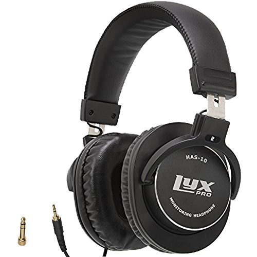 LyxPro HAS-10 Closed Back Over-Ear Professional Studio Monitor & Mixing Headphones, Newest 45mm Neodymium Drivers for Wide Dynamic Range – Lightweight