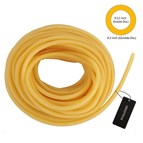 - AIRSOFTPEAK Natural Latex Rubber Tubing Speargun Band Slingshot Catapult Surgical Tube Rubber Hose 0.2