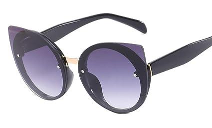 DaQao - Gafas de sol vintage, redondas, para mujeres y ...