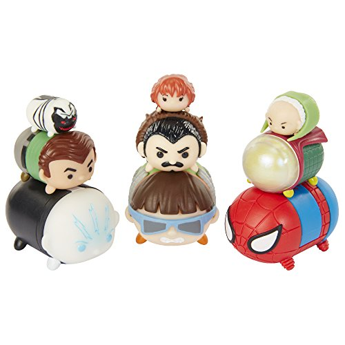 Marvel Tsum Tsum Figure - 9 Pack Elctro, Doc Ock, Spider-Man