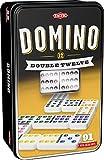 Tactic Games US Domino Doube 12 Board Games (92 Piece), Black, 4.5'' x 3'' x 7.5''