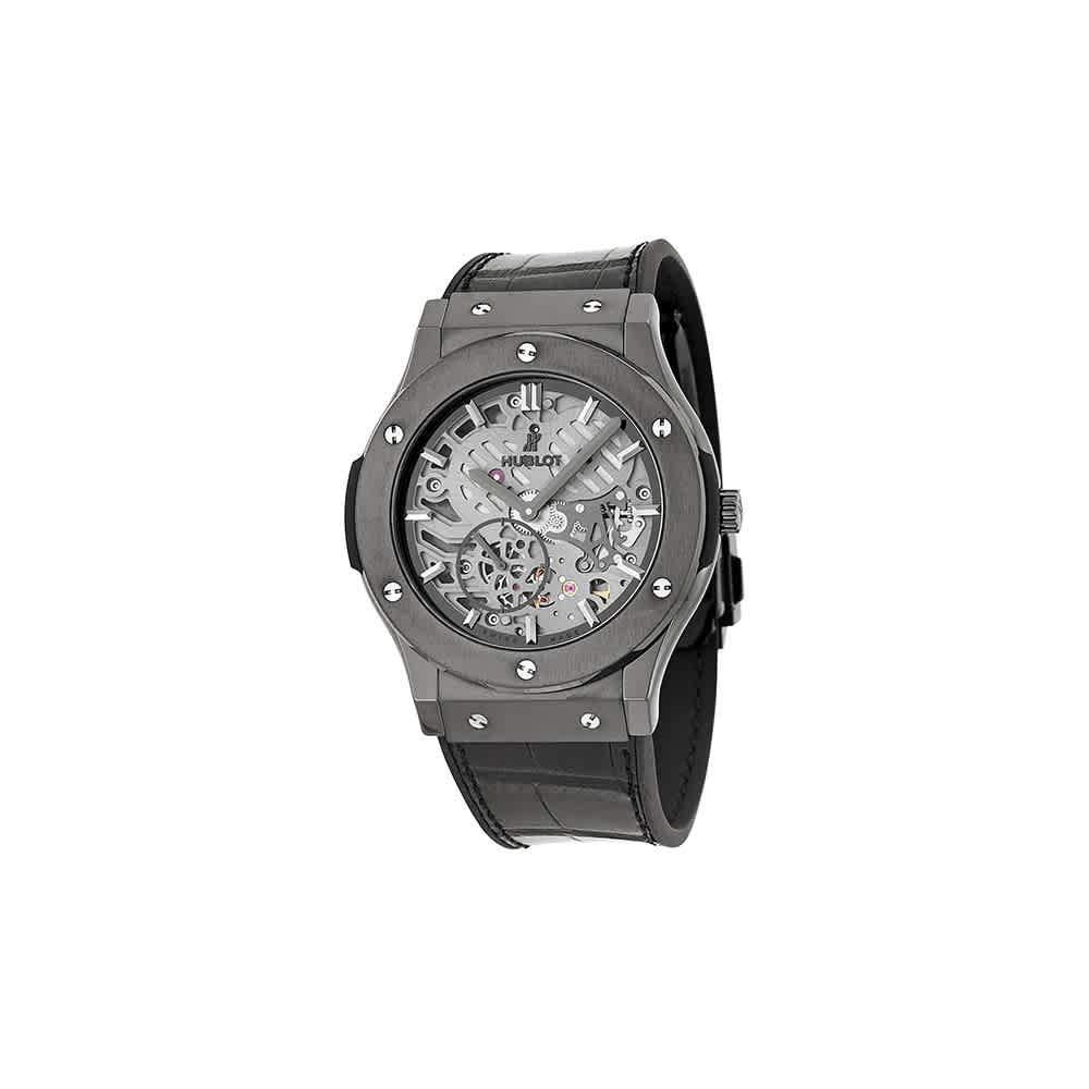 Hublot Classic Fusion Classico Ultra-Thin All Black, Black Watches, Luxury Watch, Swiss Watch