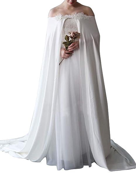 Amazon.com: Faiokaver - Chaqueta de encaje para novia ...