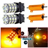 4x4 module for 2002 ford explorer - CCIYU 2 Pack Pack White/Amber 3157 60SMD Dual Color Switchback LED Bulbs + 2 Pack 50W 6Ohm LED Load Resistors For LED Turn Signal Lights or LED License Plate Lights or DRL with 4 Pack Quick wire Clip