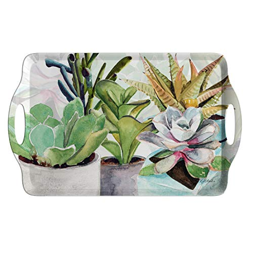 Pimpernel Succulents Large Handled Tray ()