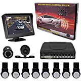 KIPTOP Universal Waterproof Night Vision Backup Camera and Video Monitor Kit,4.3 TFT LCD Rear View Monitor with 8 Alert Parking Sensors for All Cars (Silver) Review