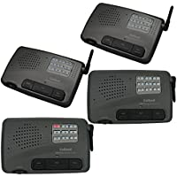 9 Channel Home or Office Wireless Intercom System 4 Station Charcoal