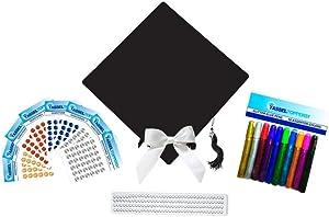 Tassel Toppers Graduation Cap Decorating Kit - Black- Do It Yourself Grad Cap Decorations