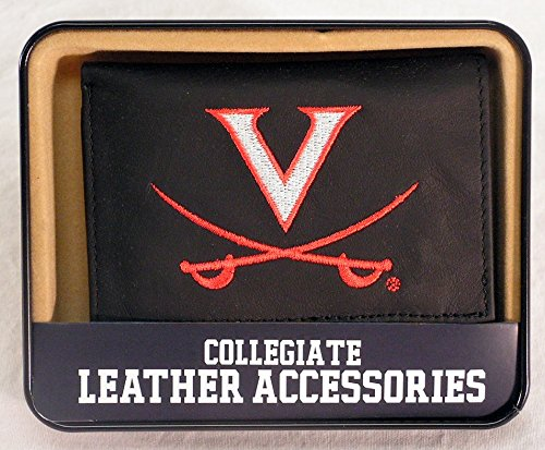 Rico Industries NCAA Virginia Cavaliers Embroidered Leather Trifold Wallet ()