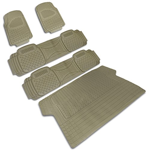 - Spec-D MAT-4201BGE Beige All Weather Floor Mats 5pcs