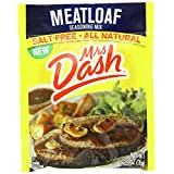 Mrs Dash Salt-Free Meatloaf Seasoning Mix (Pack of 4) 1.25 oz Packets by Mrs. Dash