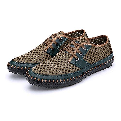Nylon Comfort De En Athletic Shenn Vert Hommes Chaussures Randonne HqTnw0Xv