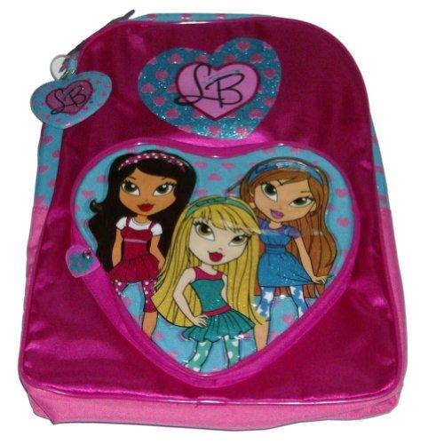 Pretty Pink Lil Bratz Backpack Glitter Travel School Back Pack