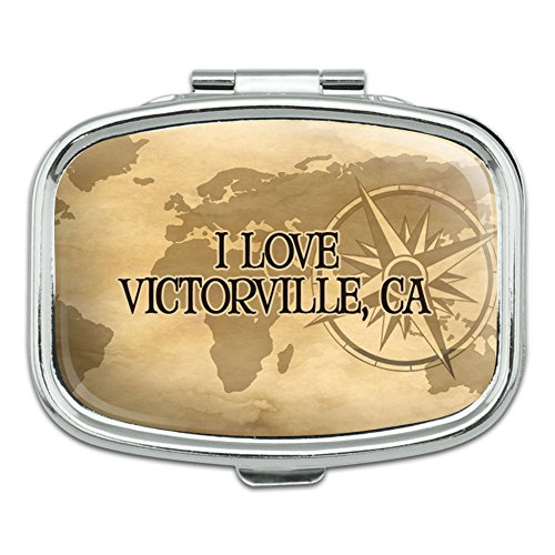 Rectangle Pill Case Trinket Gift Box City State Va-Yo - Victorville CA (City Of Victorville)