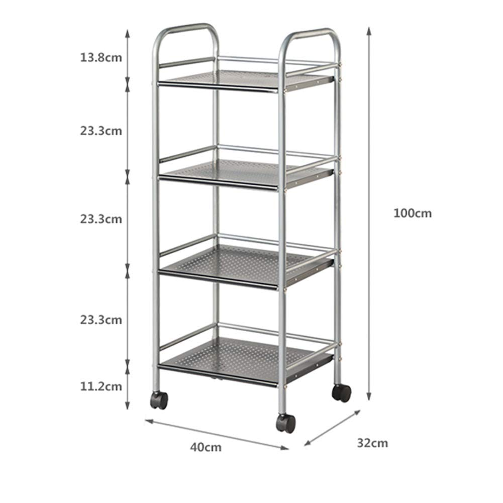 Kitchen Cart, with Wheel Storage Rack, Multi-Function Movable Trolley, Environmentally Friendly Spray Material Multiple Uses by Kitchen Cart (Image #2)