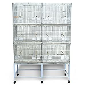 Jaulas en batería para cría de pájaros y exposición, 120 cm ...