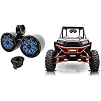 Kicker KM8 8 600 Watt Dual LED Tower Speakers For Polaris RZR/ATV/UTV/Cart/Jeep