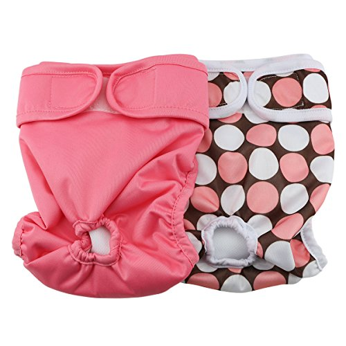 Hi Sprout Female Dog Diaper Reusable Washable Durable Absorbent Cloth Doggie Diapers Pants xs1 (Doggy Clothes)