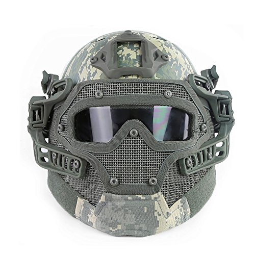 OAREA Tactical Protective PJ Helmet G4 System GS Masks with Goggles for Military Airsoft Paintball Army WarGame Hunting