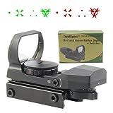TACFUN FSI Reflex Red/Green Dot Sight w/4 Reticles Metal Scope Black For Sale