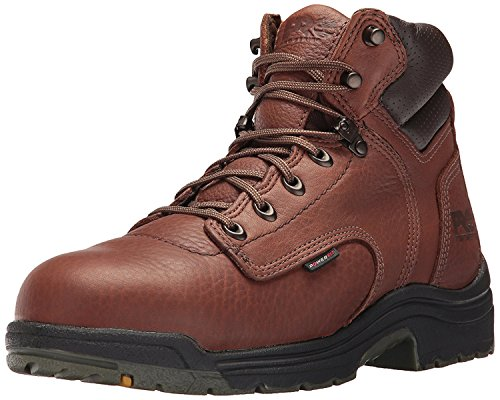 Timberland PRO Mens Titan 6 Safety-Toe Boot, Brown/Brown, 41 2E EU/7 2E UK