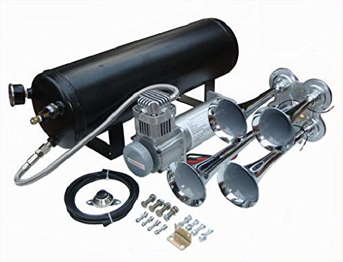 Viking Horns V103C-5/4008 Loud 149 Decibels Tarain Air Horn Kit