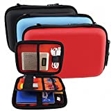GUANHE Multi-functional 2.5 Inch Mobile Hard Disk Storage Case Waterproof Electronic Accessories Case Bag Travel Gadget Case For Cables, SD Cards And USB Flash Disk In Black