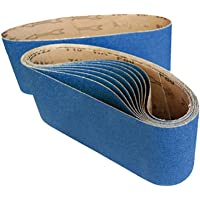 5pcs 915 x 100mm 914 Zirconia Sanding Belts Abrasive Linishing 40 60 80 120Grit For Wood Grinding (40 Grit)
