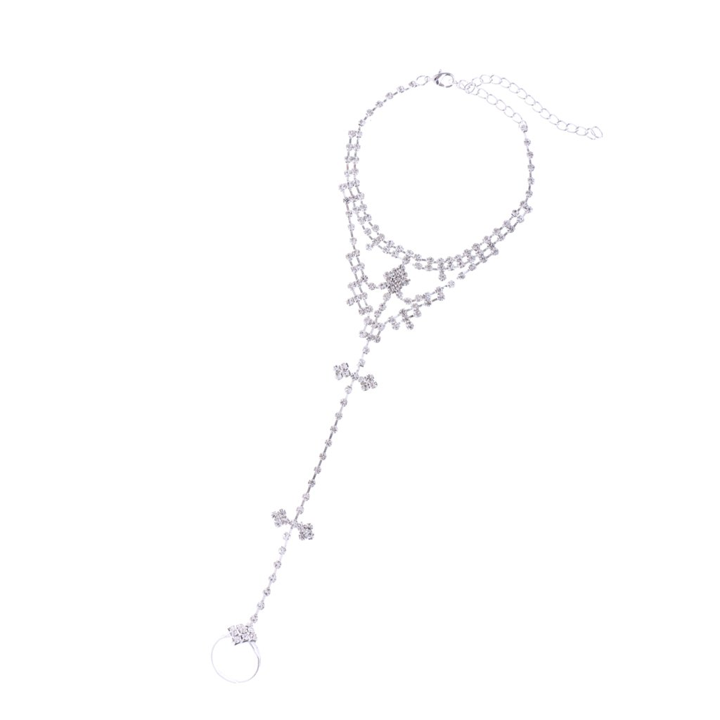 B Blesiya Charm Woman Attached Over Toe Ring Slave Ankle Bracelet Anklet Foot Jewelry
