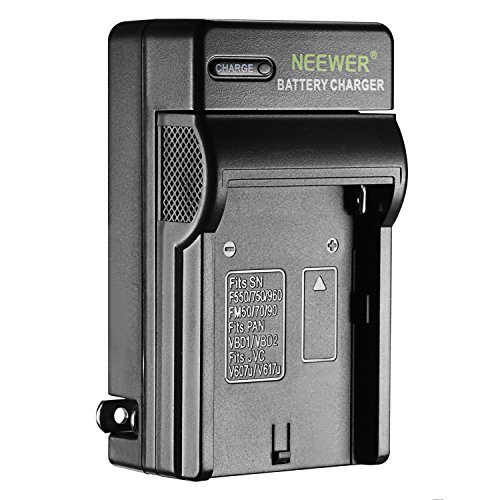 Neewer AC Wall Charger Battery Charger for Sony NP-F550/F750/F960/F330/F570 PA-VBD1 PA-VBD2 Batteries