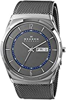 Skagen Men's SKW6078 Melbye Grey Titanium Watch with Mesh Strap