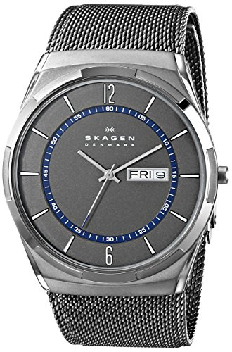 Skagen Men's SKW6078 Melbye Grey Titanium Mesh Watch