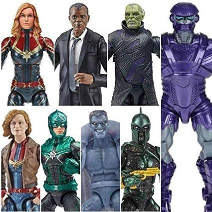 In STOCK Marvel Legends Captain Marvel Wave 1 Kree Sentry BAF Action Figure SET