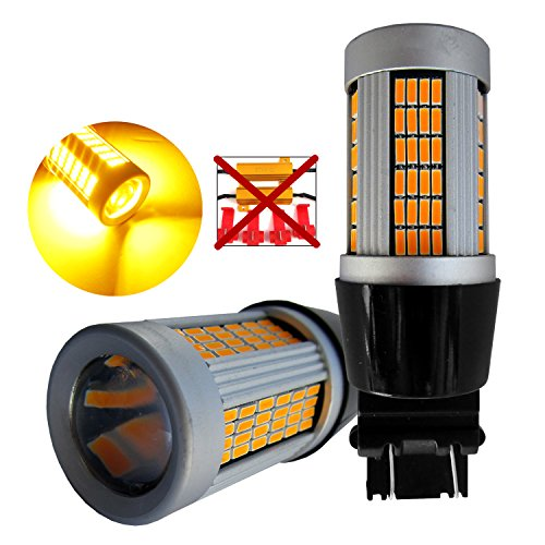 5400 Harness - Huizen Super Bright 5400 Lumens 21W 3157 (3156/3047/3057/4057/4114) LED Light Bulb (Amber/Yellow) Built-in Resistor No Hyper Flashing CanBus Error Free Replacement for Turn Signal Light (2 Pack)