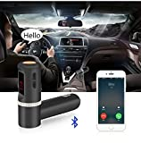 MFEEL BC08 High Performance Digital Wireless Bluetooth Fm Transmitter,in-car Bluetooth Receiver,fm Radio Stereo Adapter,car Mp3 Player with Bluetooth Handsfree Calling and USB Charging Port Up to 2A