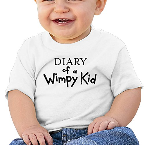 Price comparison product image Boss-Seller Diary Of A Wimpy Kid Short-Sleeve Infants Round Collar For 6-24 Months Boys & Girls Size 24 Months White