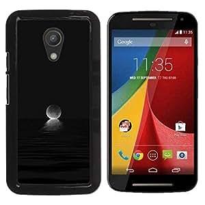 Paccase / SLIM PC / Aliminium Casa Carcasa Funda Case Cover - Moon Ocean Set Dark Black - Motorola MOTO G 2ND GEN II