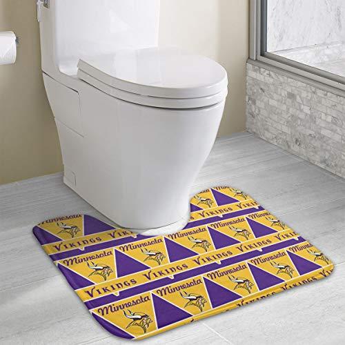 - Marrytiny Custom Colourful Non Slip Contour Toilet Bath Rug Minnesota Vikings Football Team Anti-Bacterial U-Shaped Toilet Floor Rug Shower Mat Bathroom Carpet 19.3 x 15.7 Inches