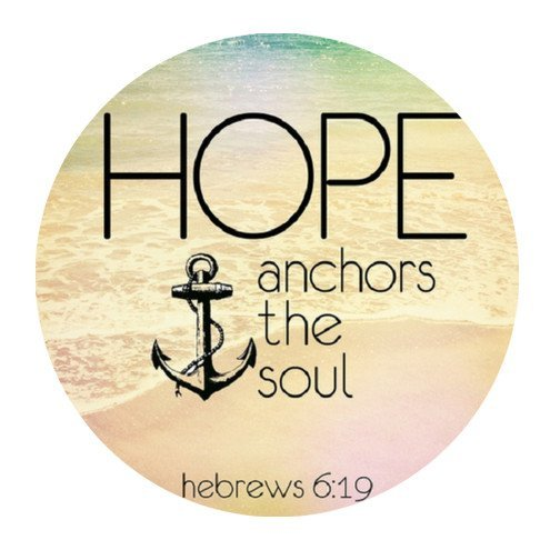 Awesome Design Cloth Cover Round Mouse Pad 7.87×7.87 Inches-Christian Bible Verse Quotes Hope anchors the soul hebrews 6:19