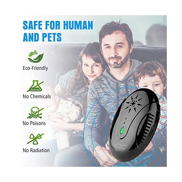 Aunus 2020 Version Repellente Ultrasuoni per Topi Professionale, 3 in 1 Scacciatopi Ultrasuoni,Repellente Anti Zanzare… 6 spesavip