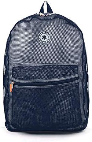 Mesh Backpack See through Student School Bag Bookbag Mesh See Through Daypack