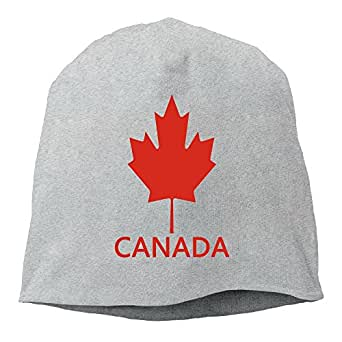 Maple Leaf Canadian Flag Canada Reglan Retro Red Unisex,Women/Men Wool Hat Soft Stretch Beanies Skull Cap Ash