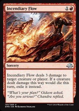 4 x Incendiary Flow - Eldritch Moon 133//205 Uncommon